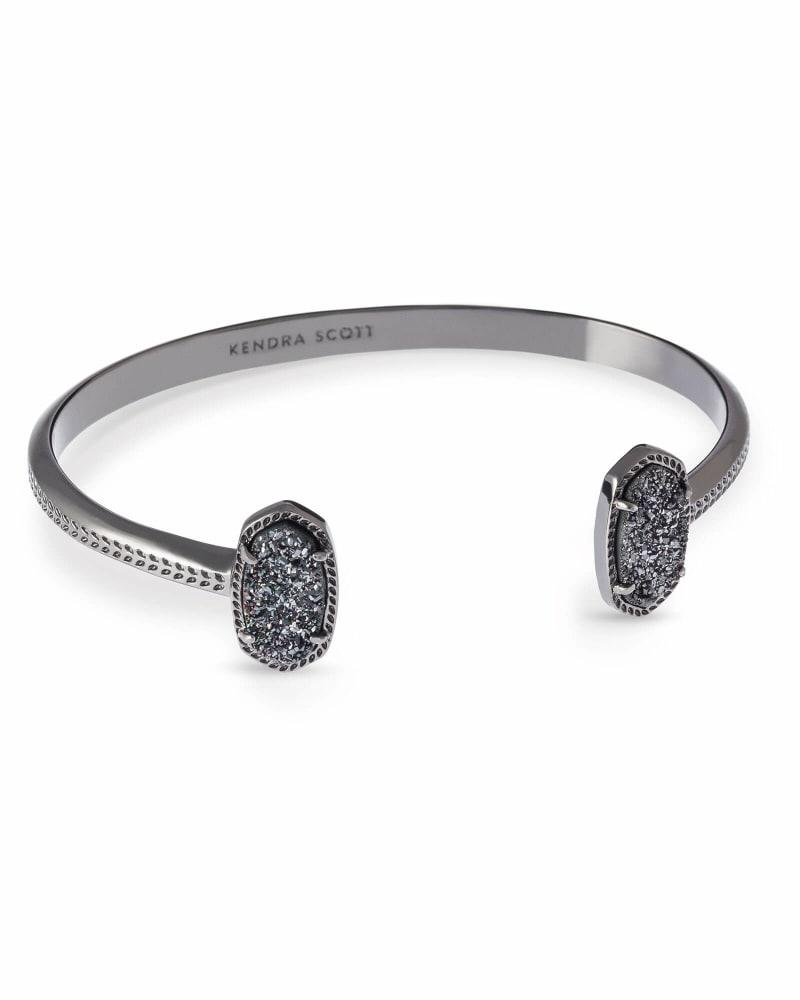 Elton Pinch Cuff Bracelet in Gunmetal