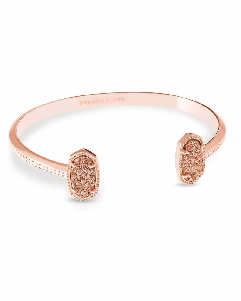 Elton Rose Gold Cuff Bracelet in Rose Gold Drusy