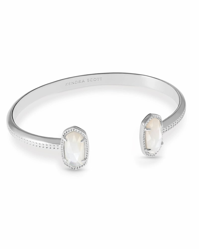 Elton Silver Cuff Bracelet in Ivory Mother-of-Pearl