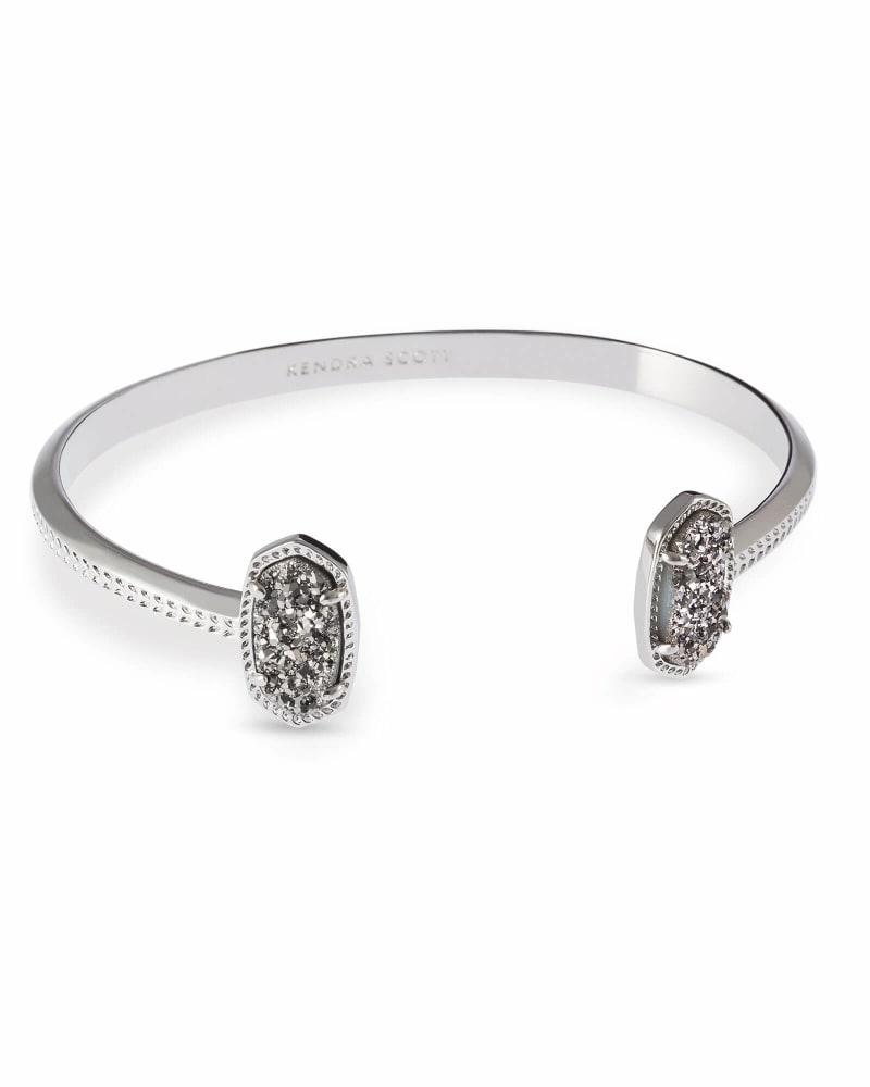 Elton Pinch Cuff Bracelet in Silver