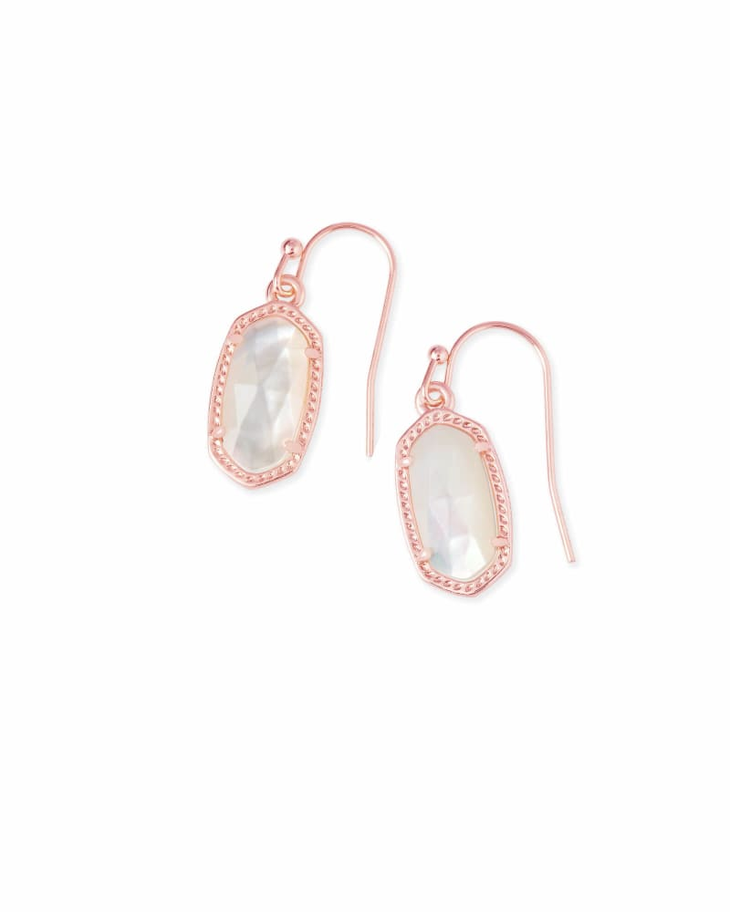 Lee Rose Gold Drop Earrings in Ivory Pearl