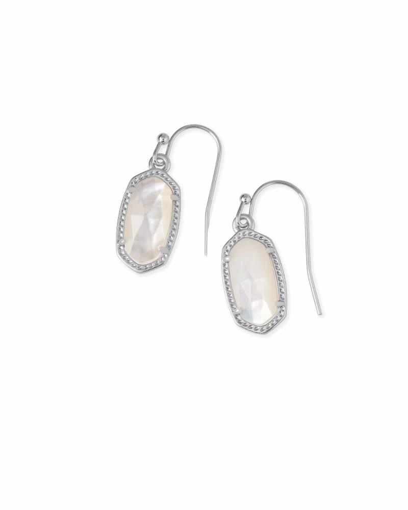 Lee Silver Drop Earrings in Ivory Pearl