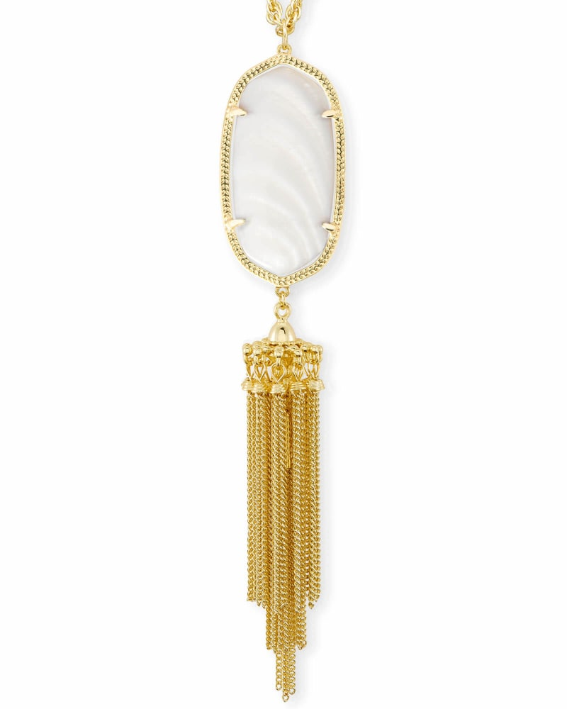 Rayne Necklace in White Pearl