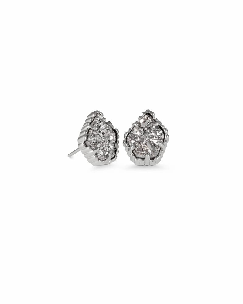 Tessa Stud Earrings in Silver