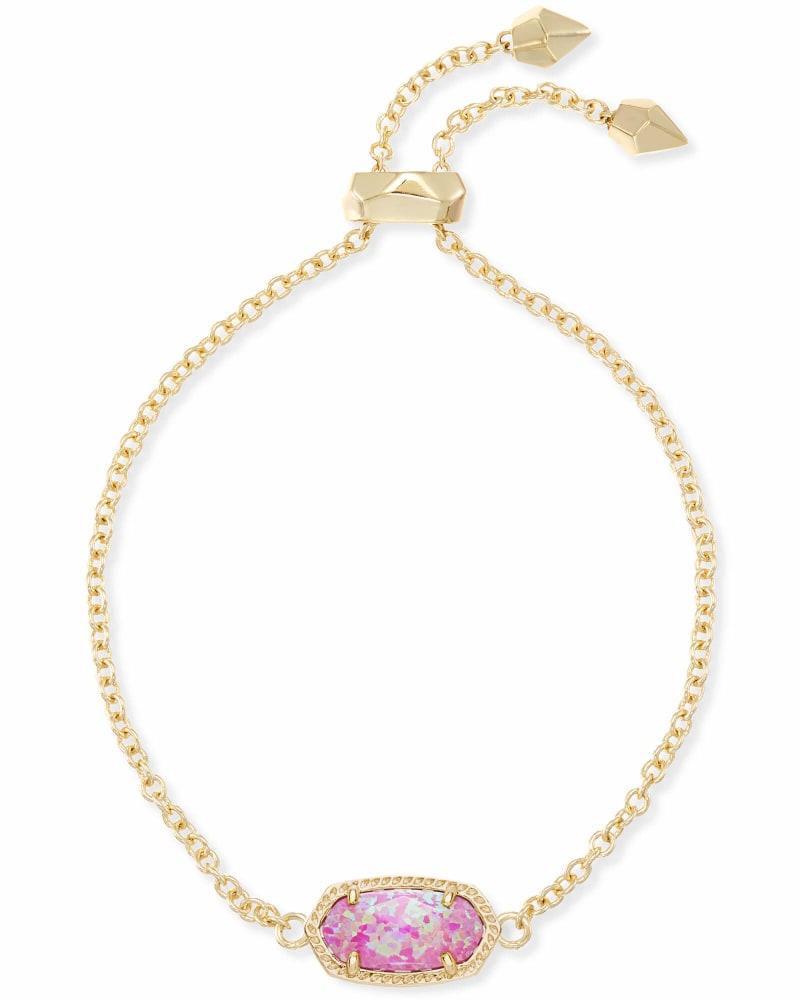 Elaina Adjustable Chain Bracelet in Fuchsia Kyocera Opal