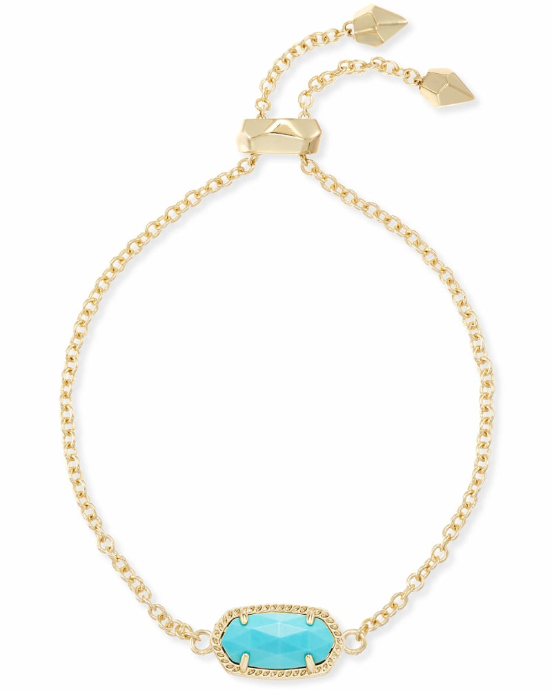 Elaina Adjustable Chain Bracelet in Turquoise