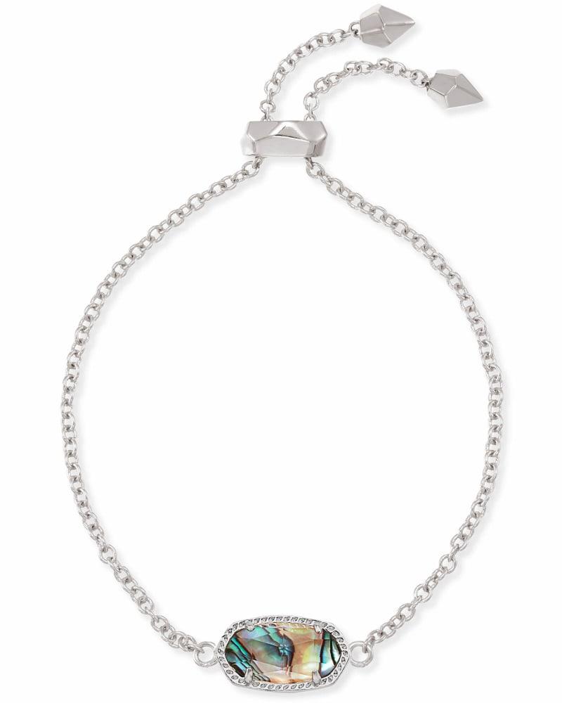 Elaina Silver Chain Bracelet in Abalone Shell