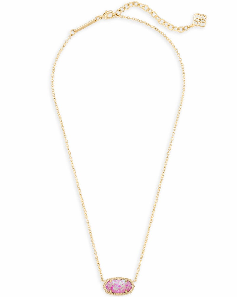 Elisa Pendant Necklace in Fuchsia Kyocera Opal