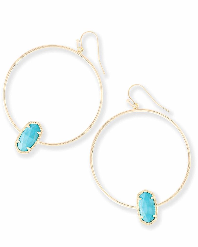 Elora Hoop Earrings in Turquoise