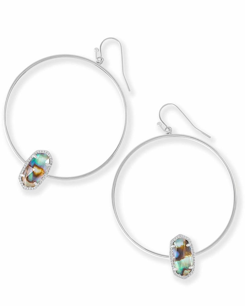 Elora Silver Hoop Earring