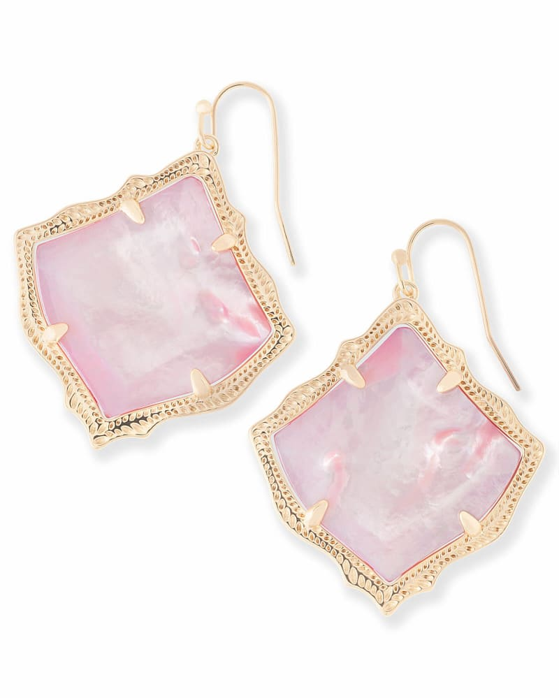 Kirsten Drop Earrings in Blush Pearl