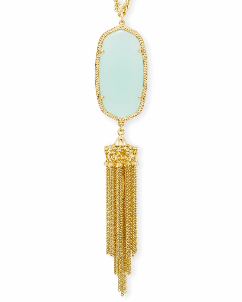 Rayne Long Pendant Necklace in Chalcedony