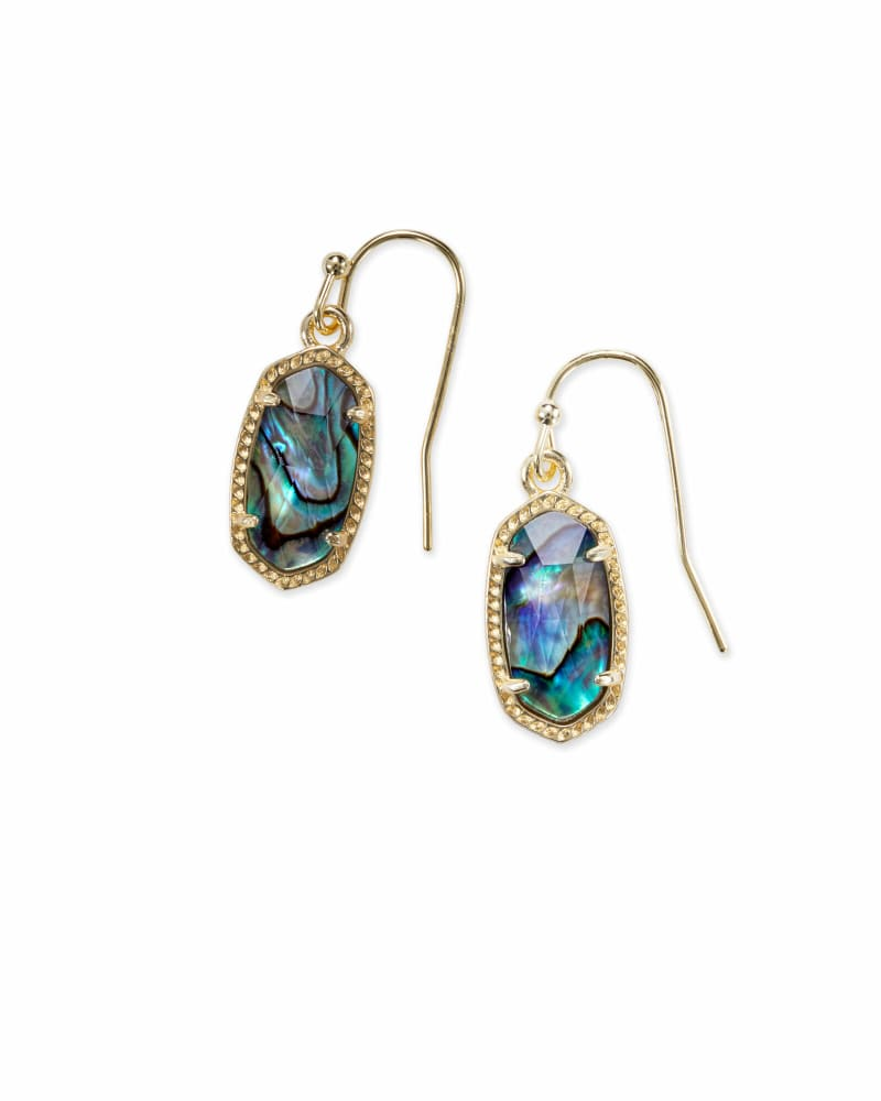 Lee Gold Drop Earrings in Abalone Shell