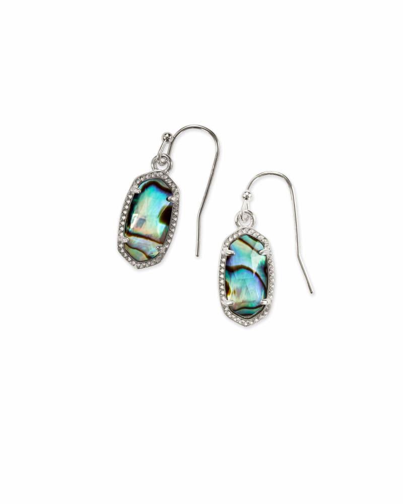 Lee Silver Drop Earrings in Abalone Shell