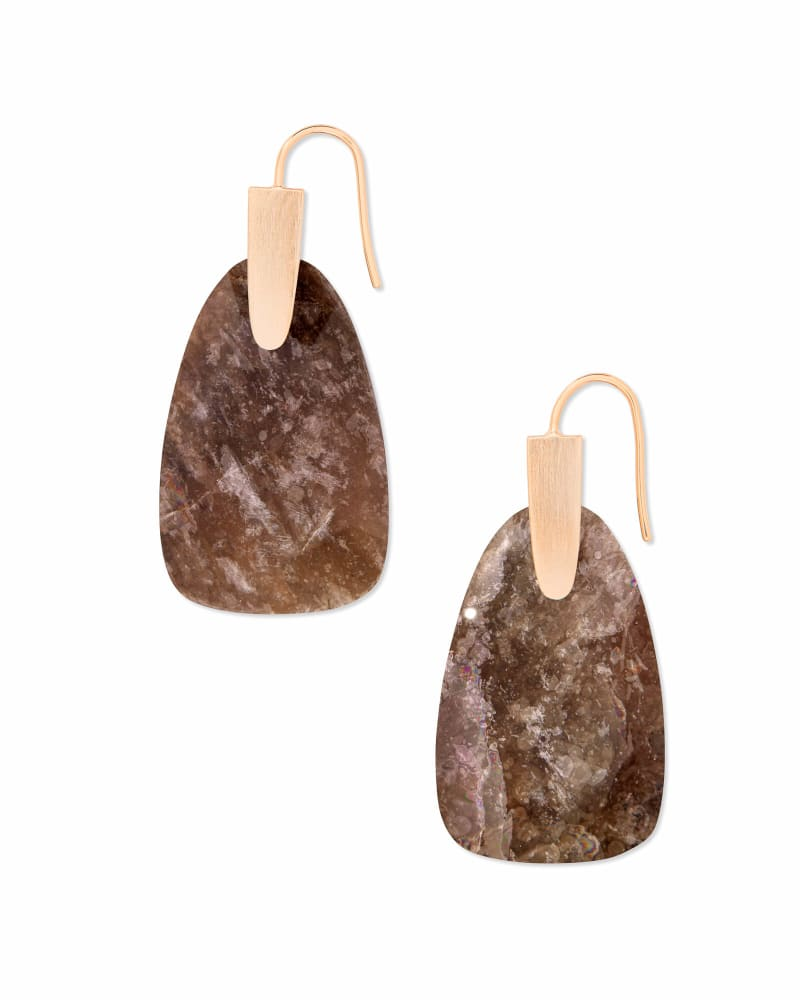 Marty Rose Gold Drop Earrings in Sable Mica