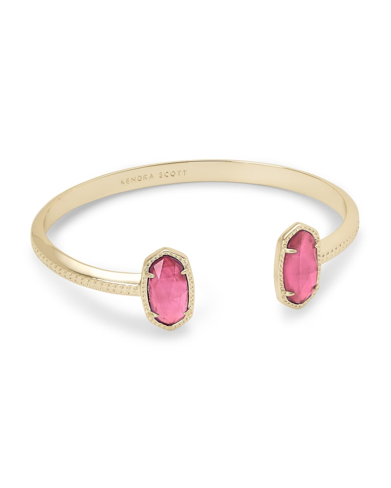 Elton Gold Cuff Bracelet in Berry Illusion