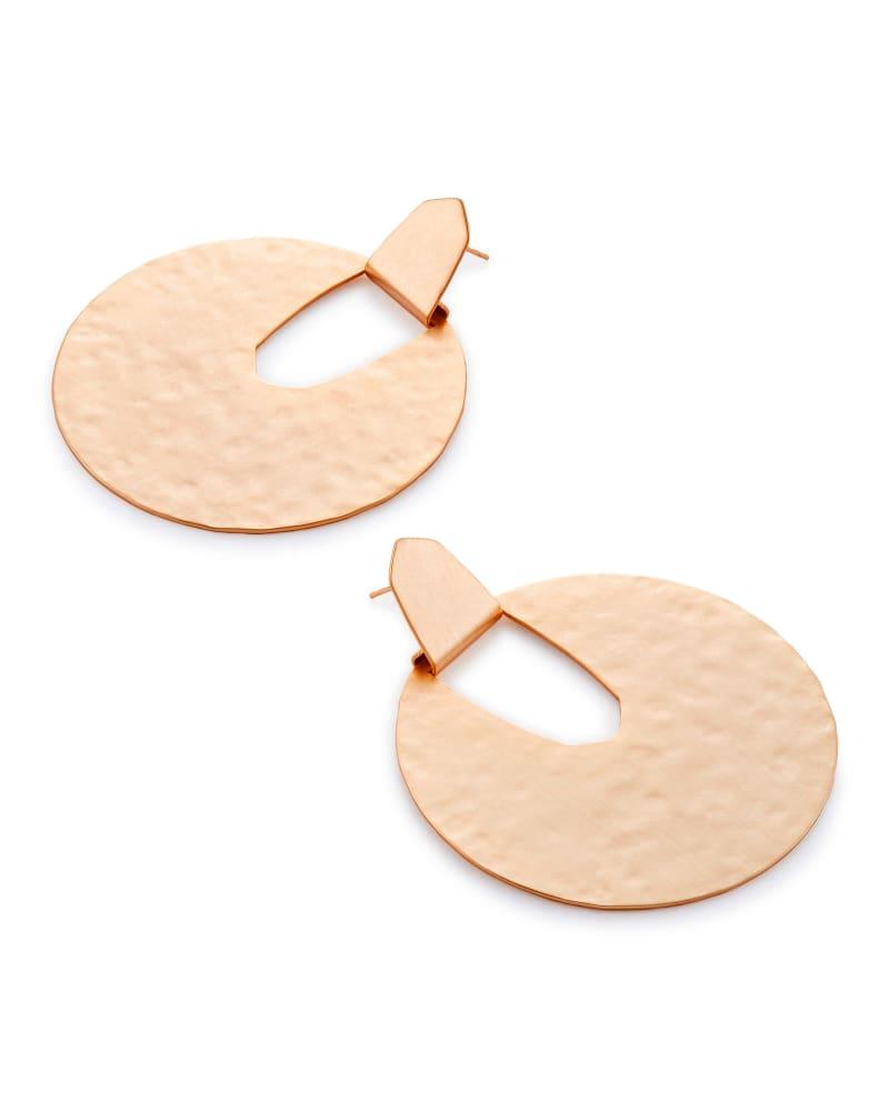 Diane Statement Earrings in Rose Gold