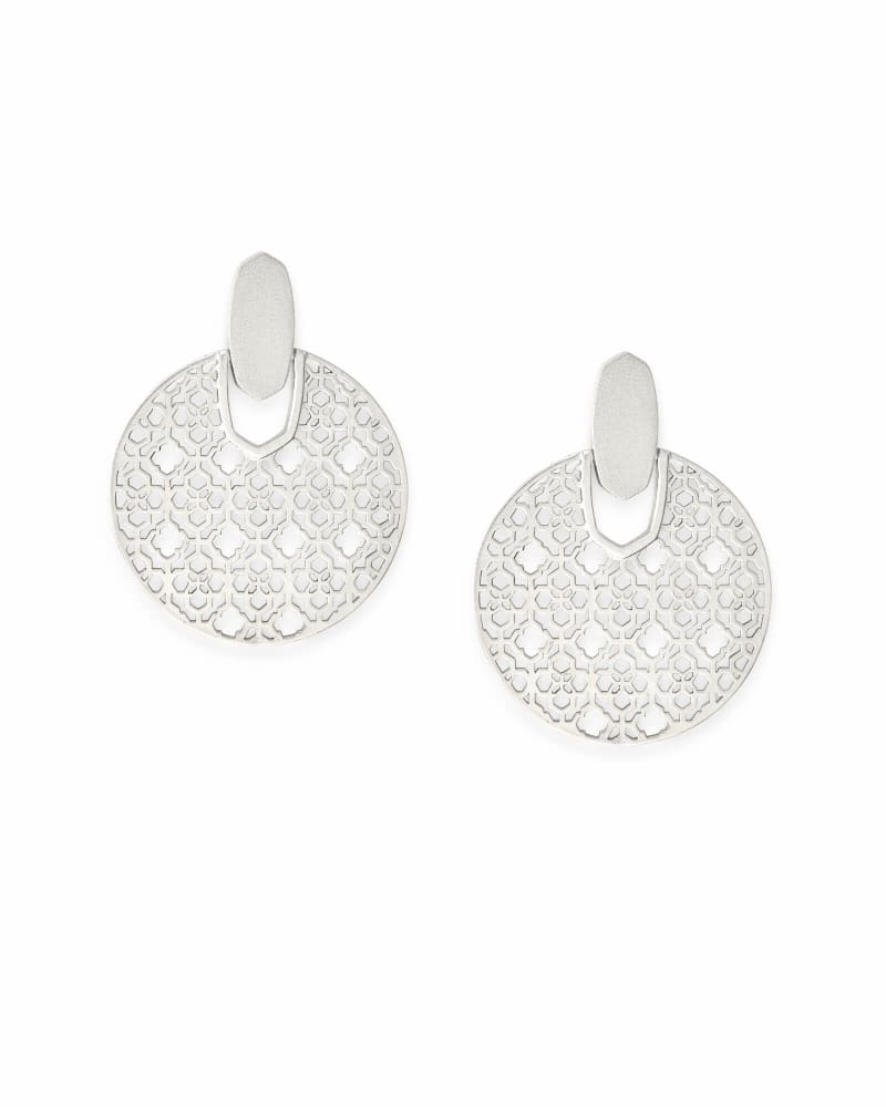 Didi Silver Statement Earrings in Silver Filigree