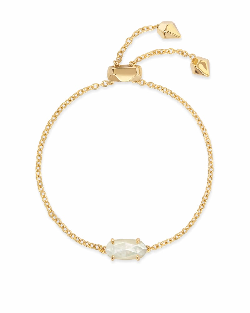 Everlyne Gold Chain Bracelet in Ivory Pearl
