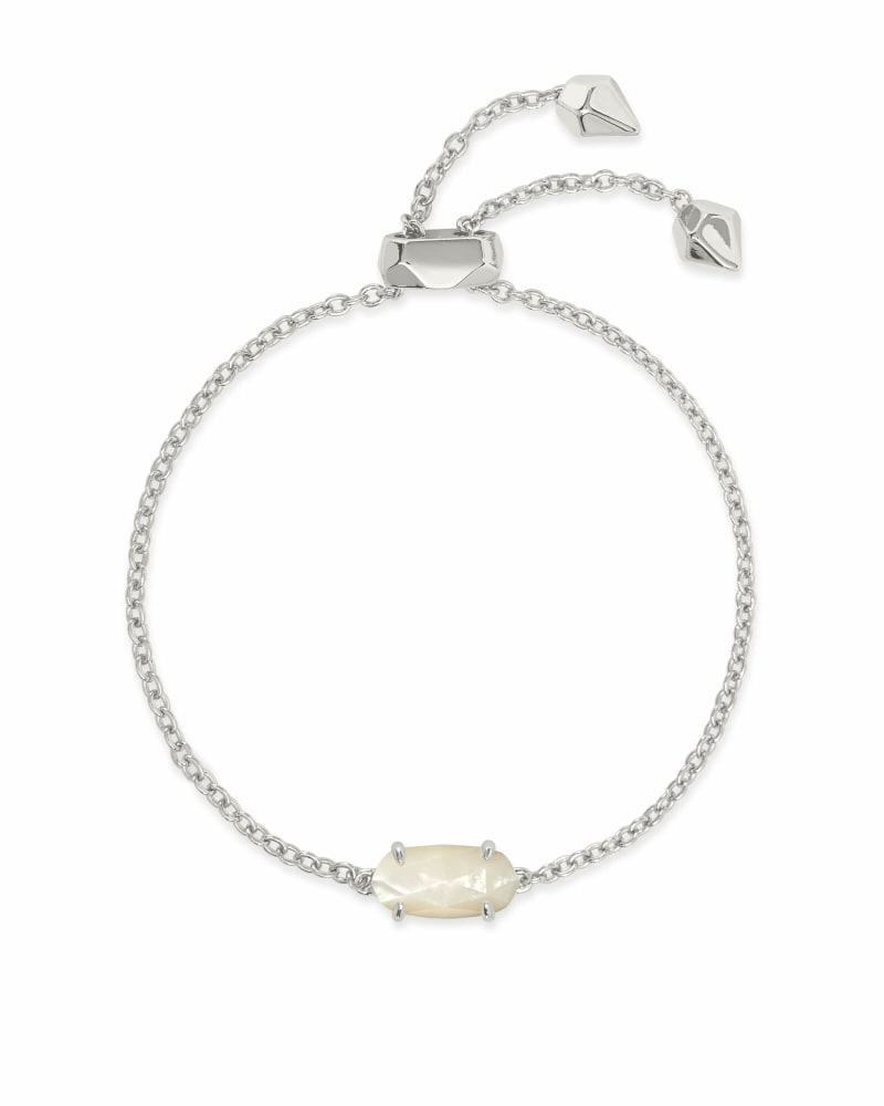 Everlyne Silver Chain Bracelet In Ivory Pearl