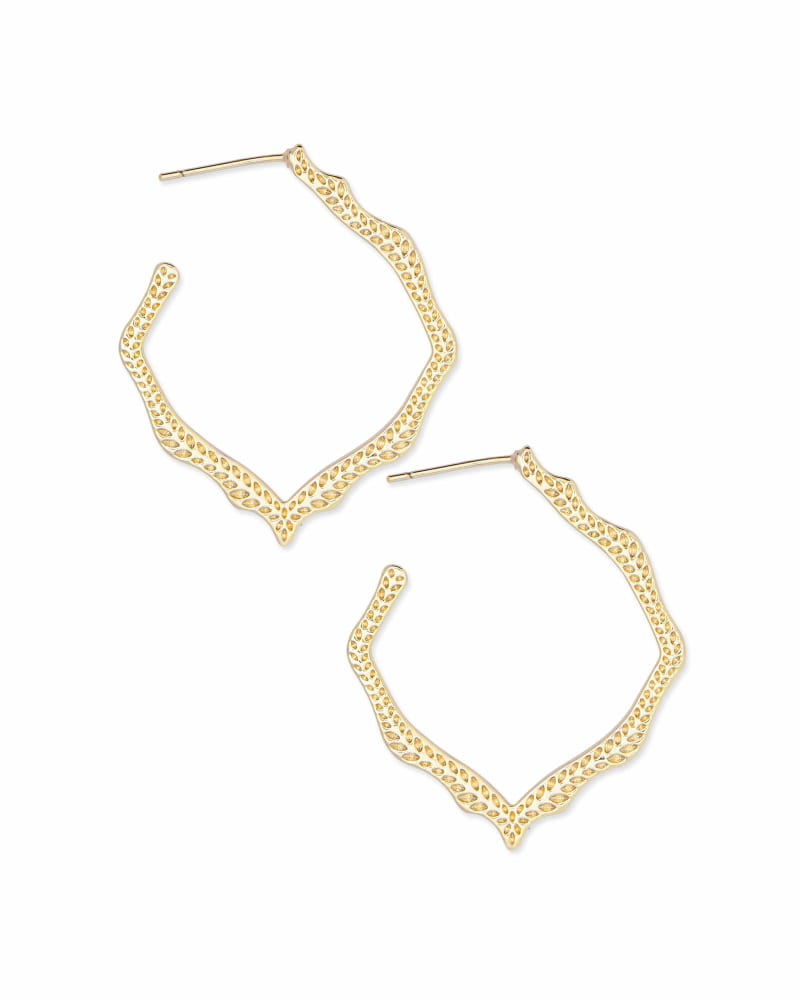 Miku Hoop Earrings in Gold