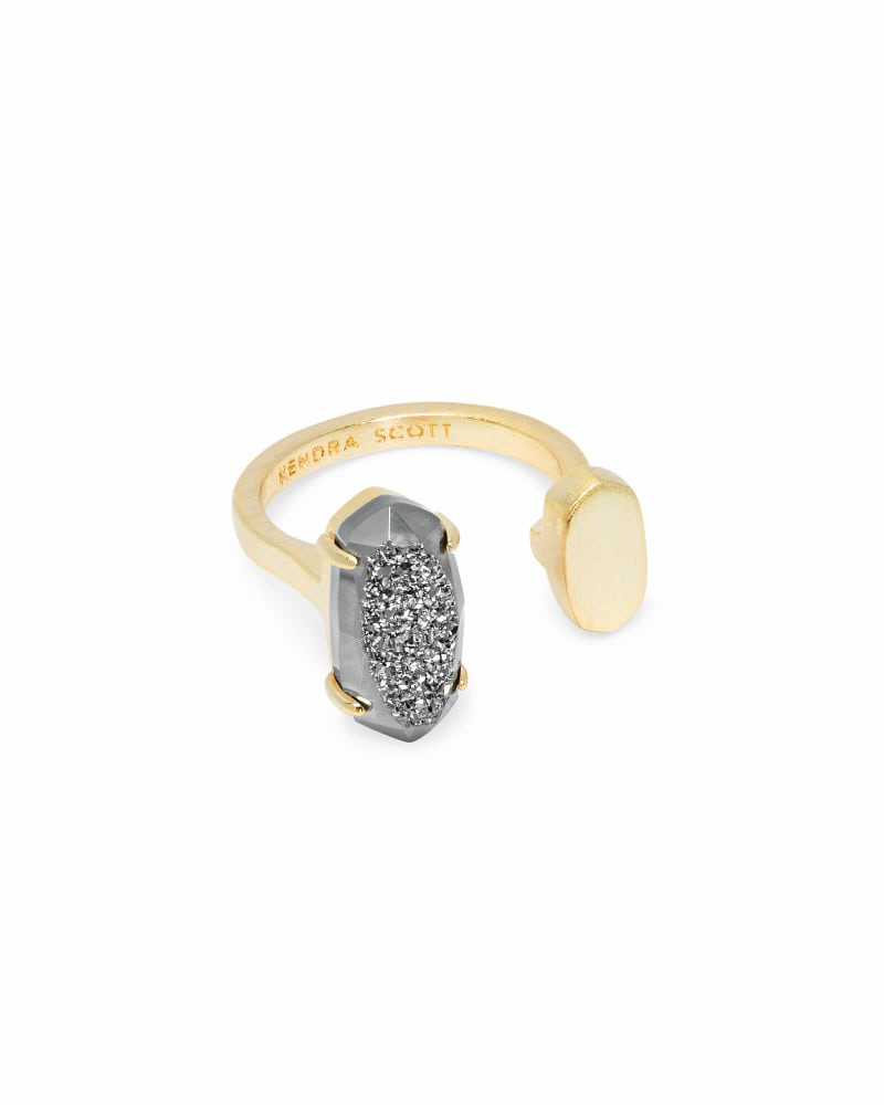 Pryde Gold Ring in Platinum Drusy