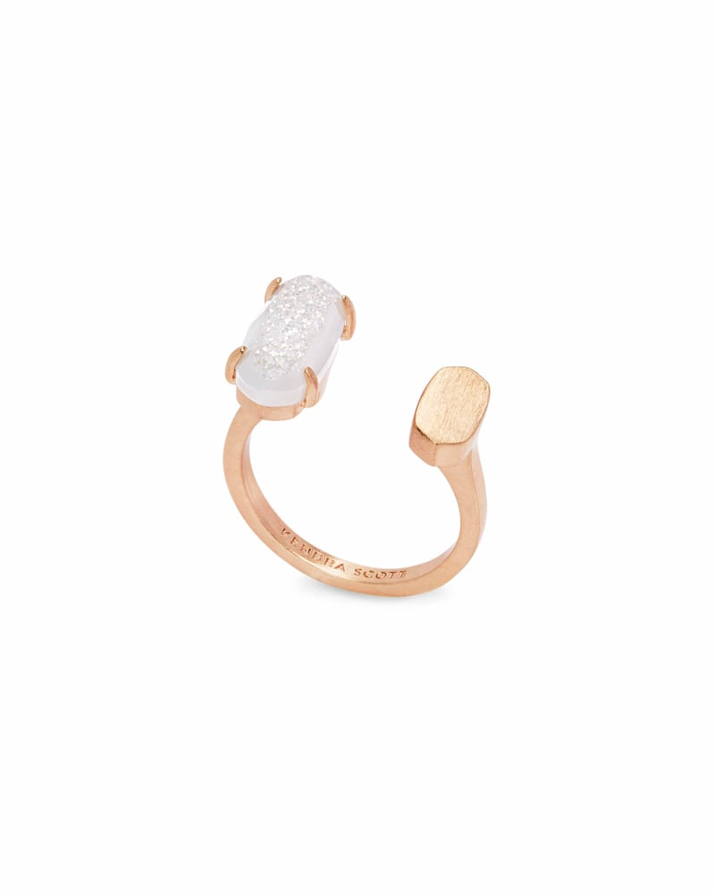 Pryde Rose Gold Ring in Iridescent Drusy