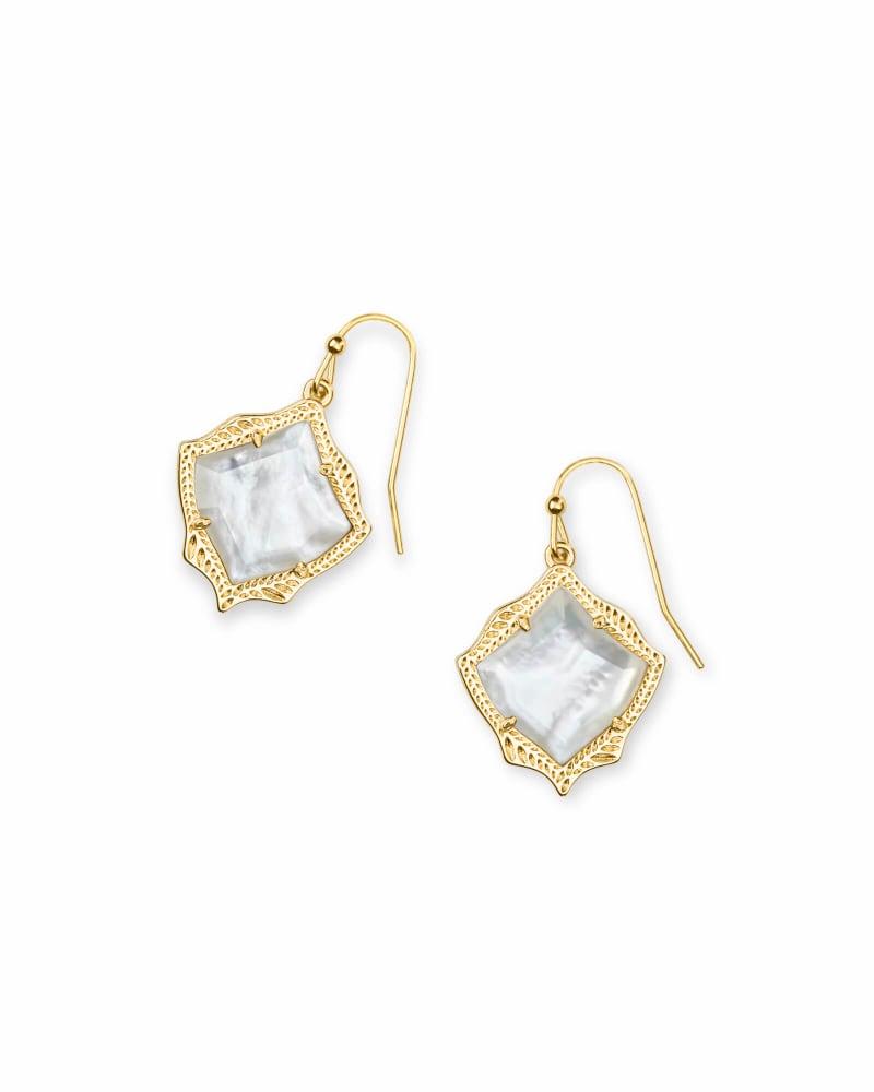 Kyrie Gold Drop Earrings in Ivory Pearl | Kendra Scott