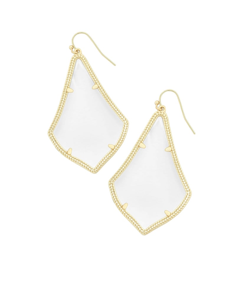 Alexandra Gold Earrings in Clear Crystal