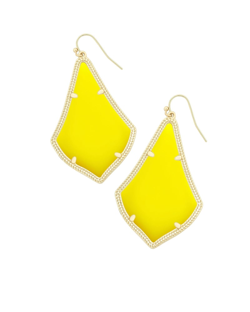 Alexandra Earrings in Yellow