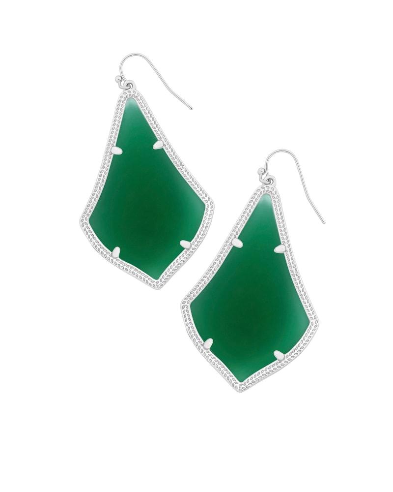 Alexandra Silver Earrings in Green