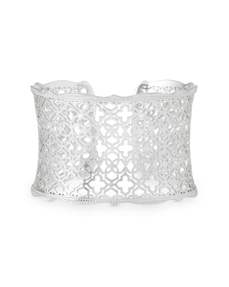 Candice Silver Cuff Bracelet in Silver Filigree Mix