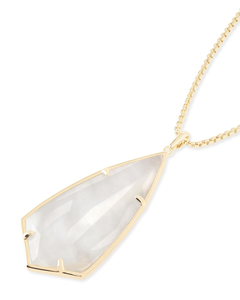 Carole Long Pendant Necklace in Ivory Pearl