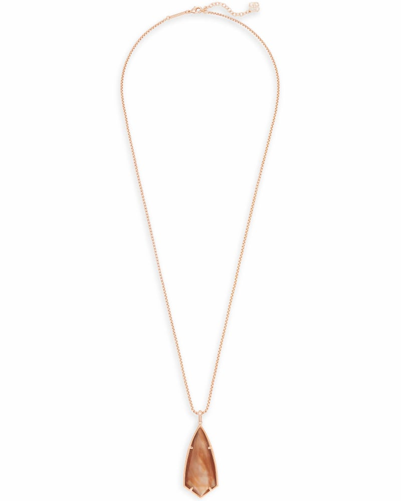 Carole Long Pendant Necklace in Rose Gold