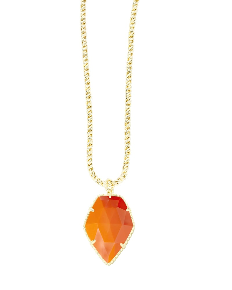 Corla Gold Necklace in Orange
