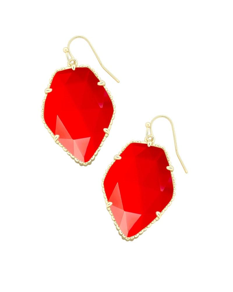 Corley Drop Earrings in Bright Red