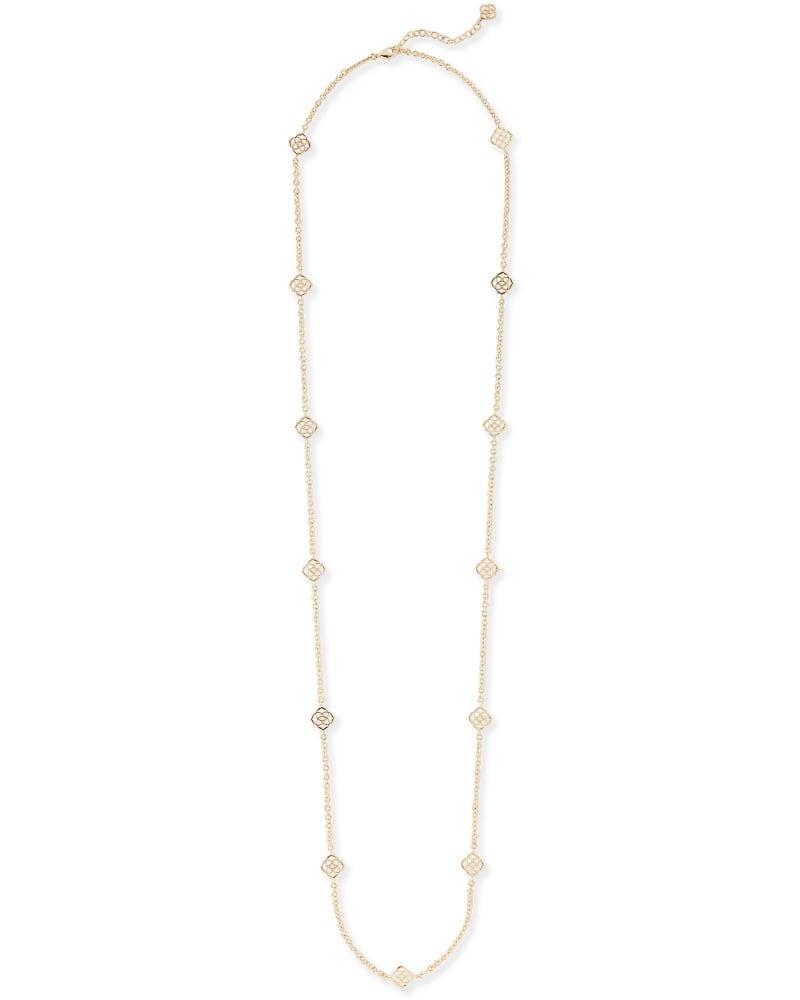 Devalyn Long Necklace in Gold