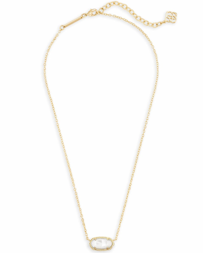 Details about  /NWT Kendra Scott Elisa Beaded Pendant Necklace In Ivory MOP Stone