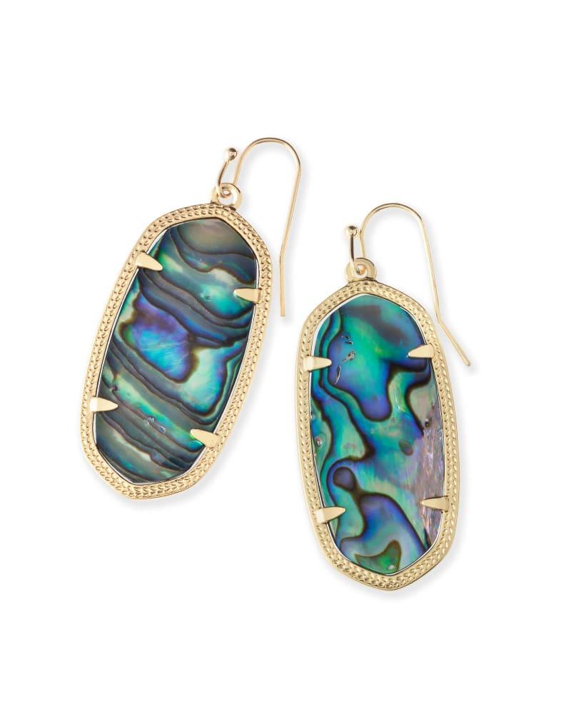 Elle Gold Drop Earrings in Abalone Shell | Kendra Scott