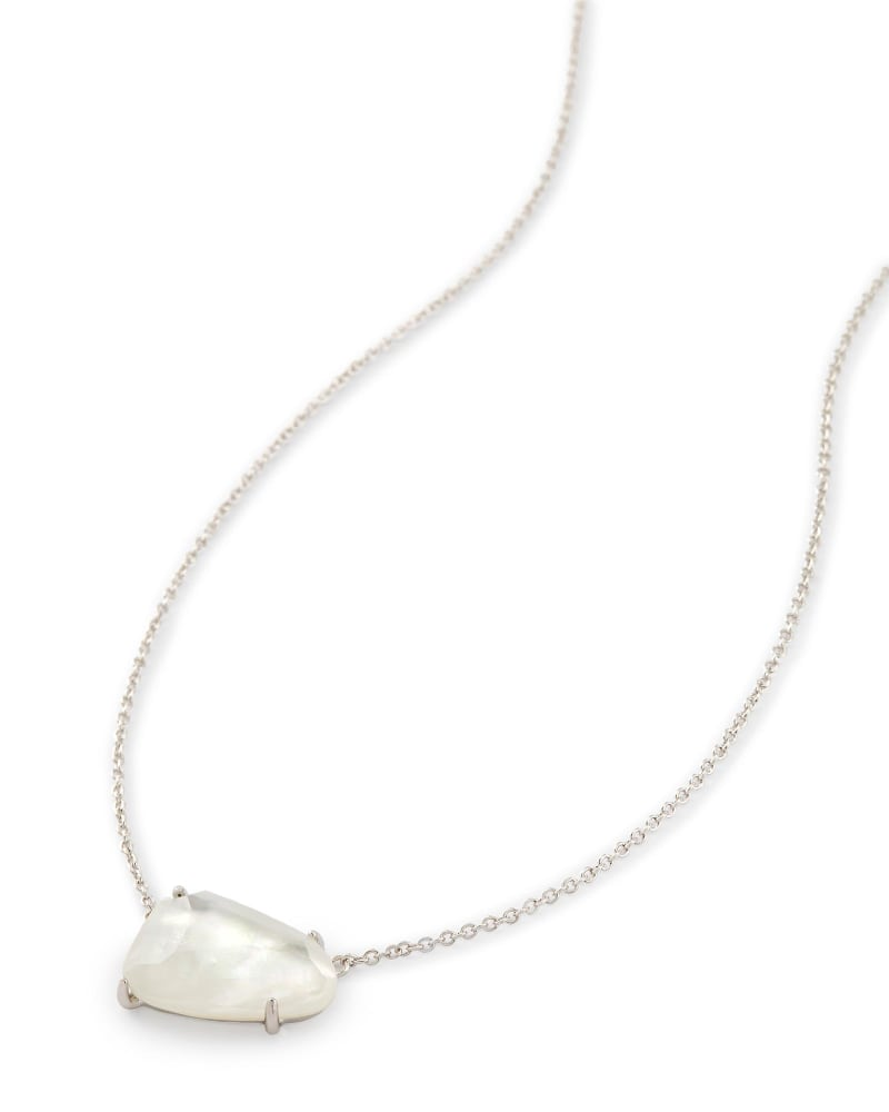 Isla Silver Pendant Necklace in Ivory Pearl