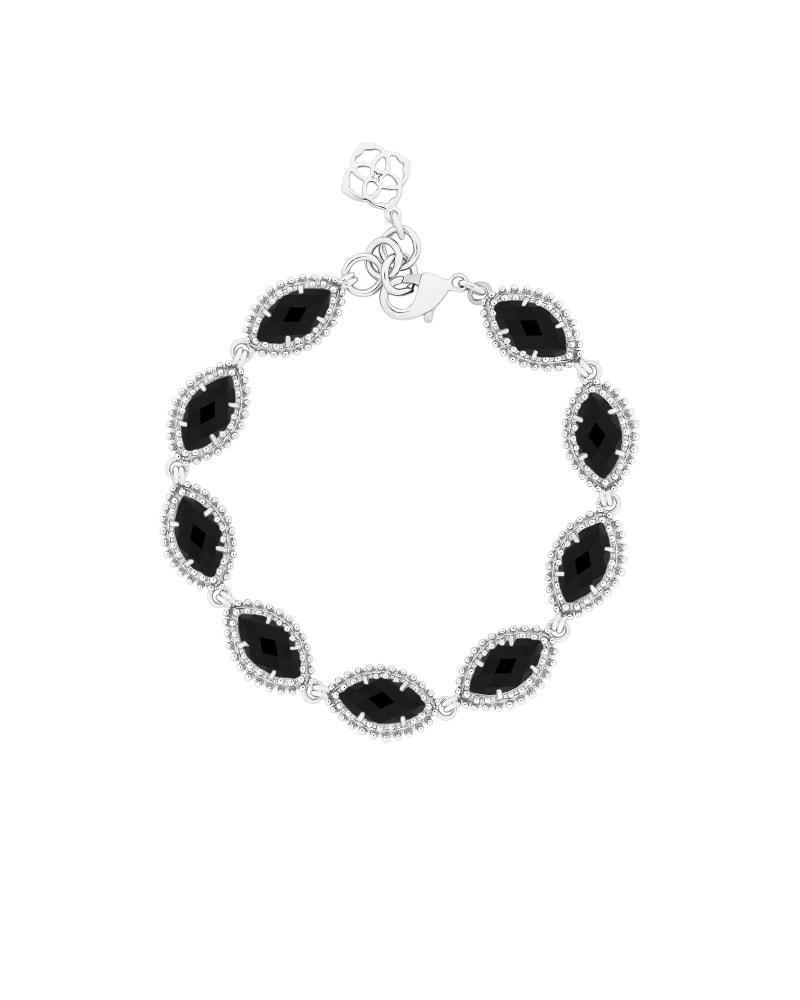 Jana Silver Bracelet in Black
