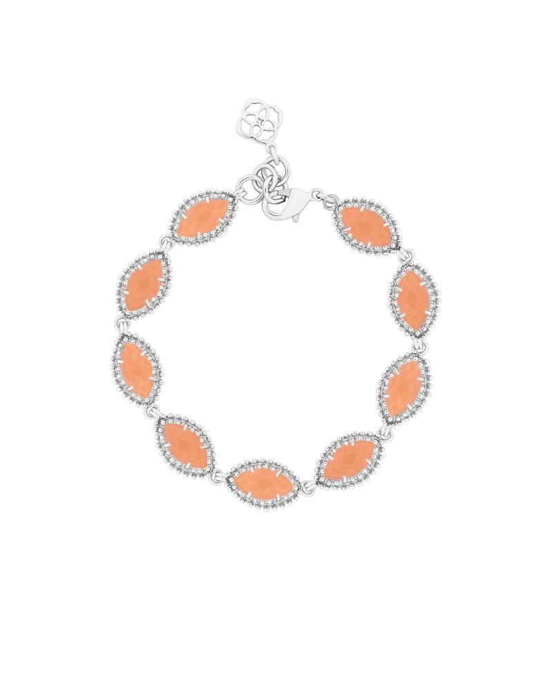 Jana Silver Bracelet in Coral