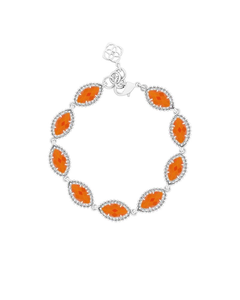 Jana Silver Bracelet in Orange