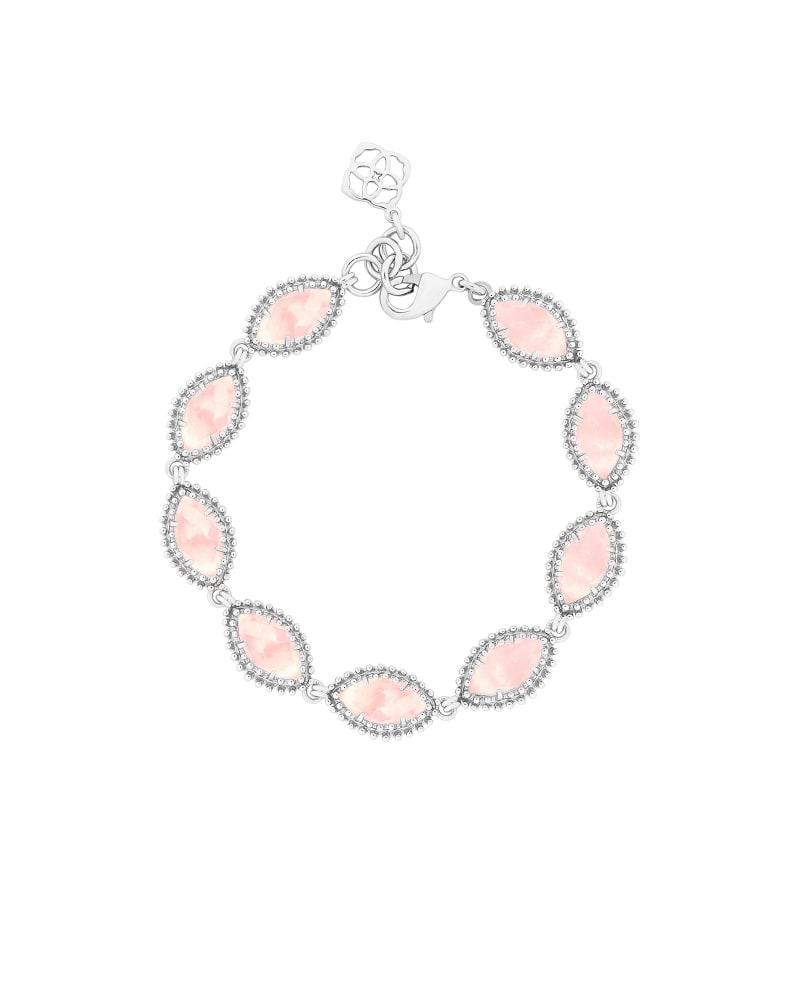 Jana Silver Bracelet in Rose Quartz