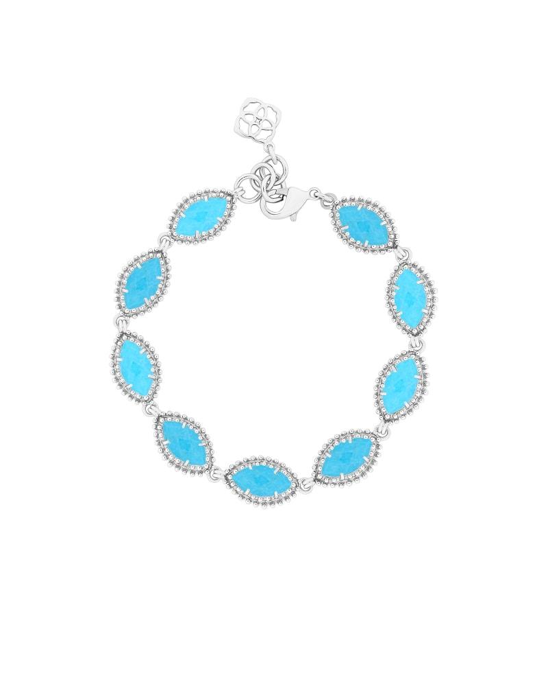 Jana Silver Bracelet in Turquoise