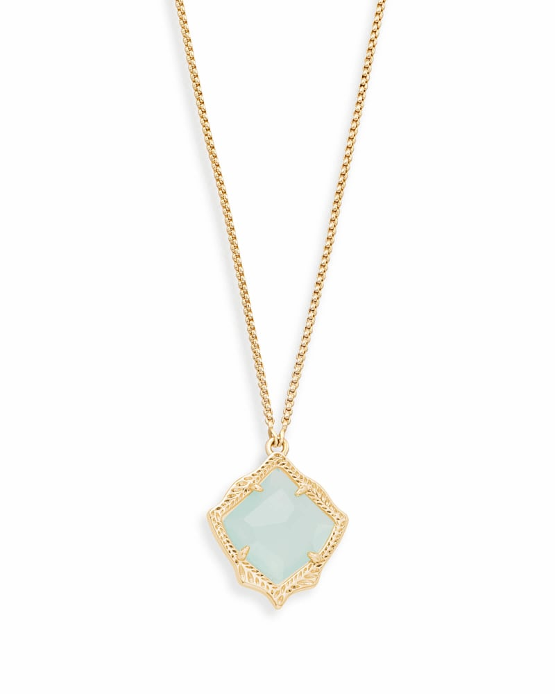 Kacey Long Pendant Necklace in Chalcedony