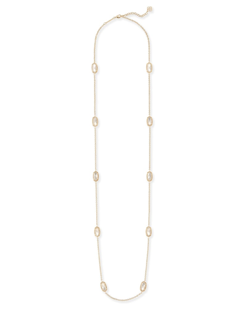 Kellie Long Necklace in Ivory Pearl