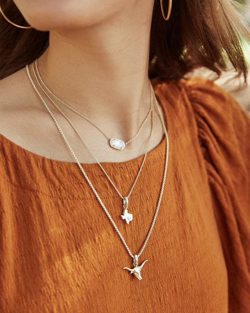 The State of Texas Charm in Vintage Silver