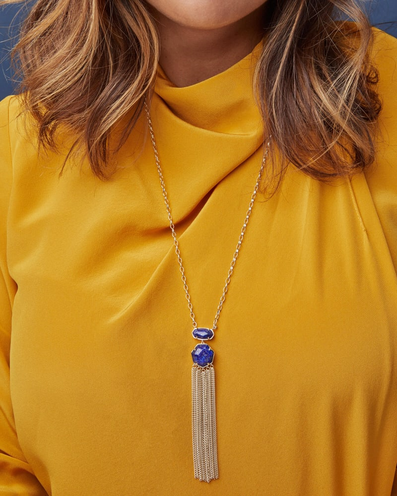 Tae Gold Pendant Necklace in Iridescent Drusy