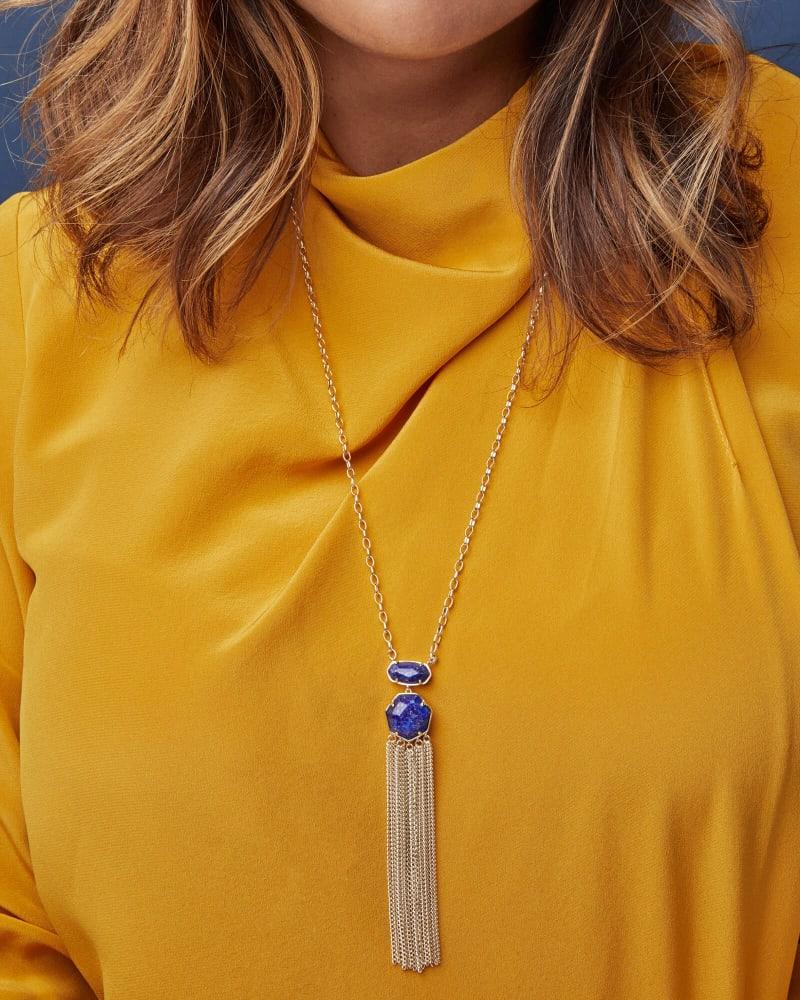 Tae Gold Pendant Necklace in Blue Lapis